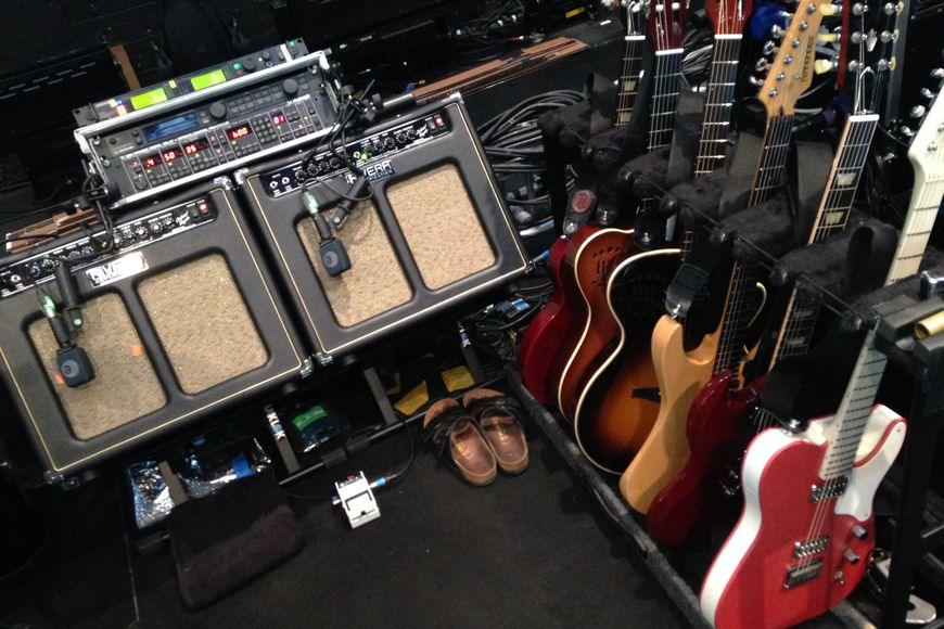 Rivera amps and assorted guitars for the KB shows.
