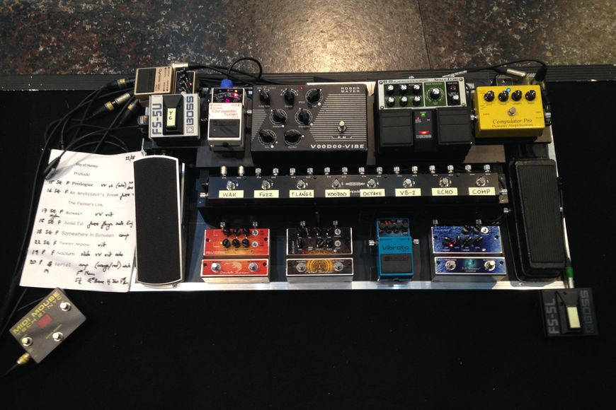 Pedal board for the KB shows.
