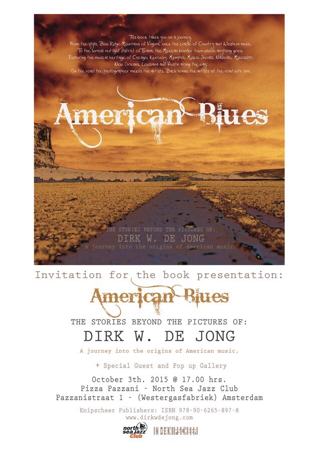 Book presentation American Blues on 3rd October
