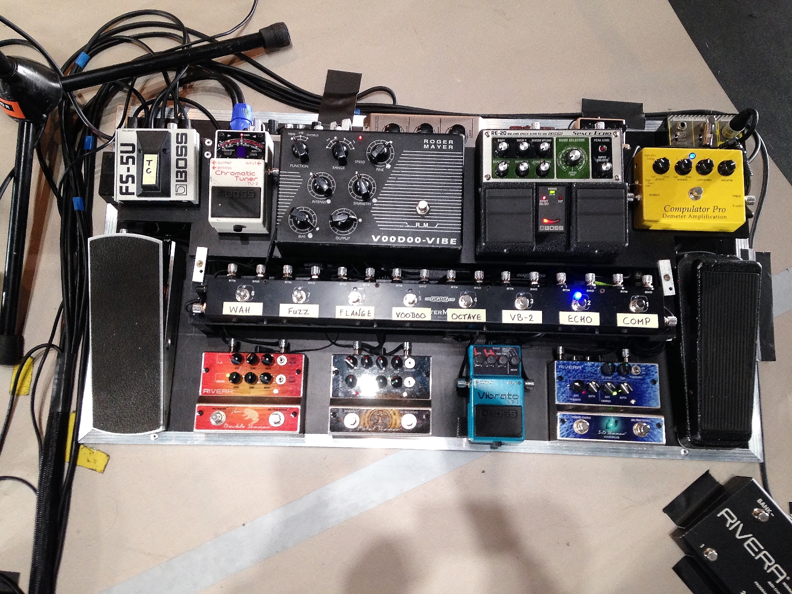 Pedal Board Back to Front **
